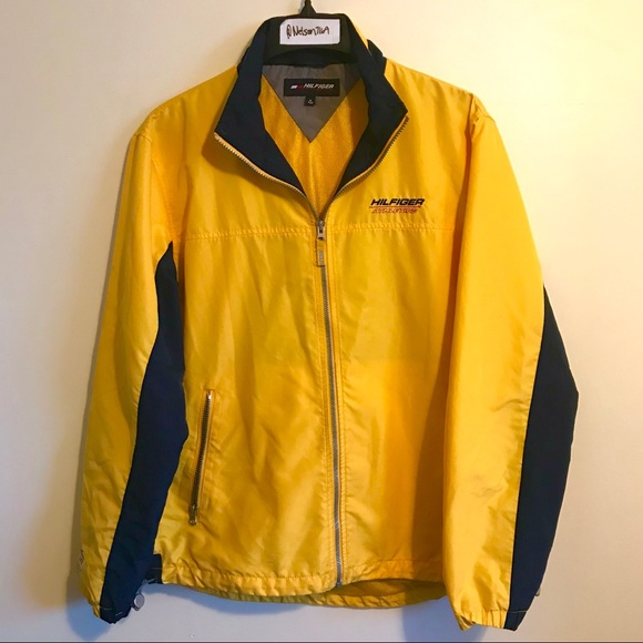 Tommy Hilfiger - 90s Vintage Hilfiger Athletics Yellow Windbreaker ...